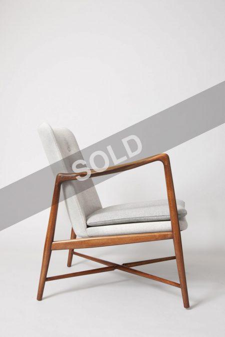 Finn Juhl pair of grey chairs