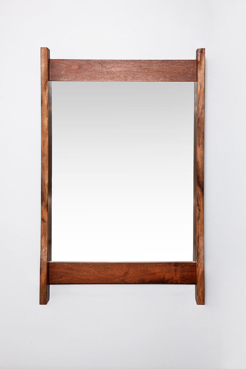 George Nakashima walnut mirror