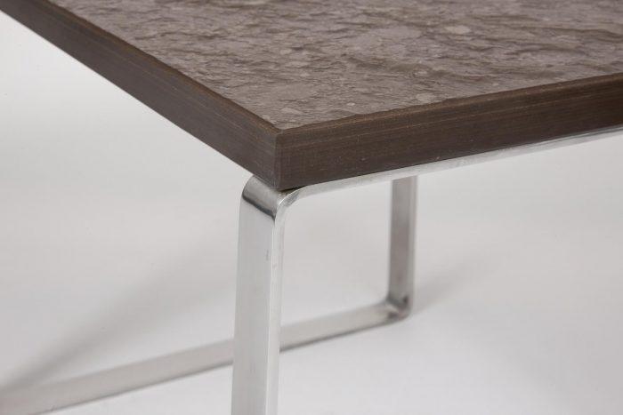 Hans Wegner steel and slate table