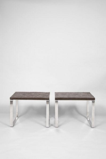 Hans Wegner steel and slate table