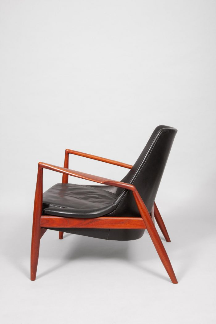 IB Kofod Larsen, chair and stool, Denmark/Sweden, 1955