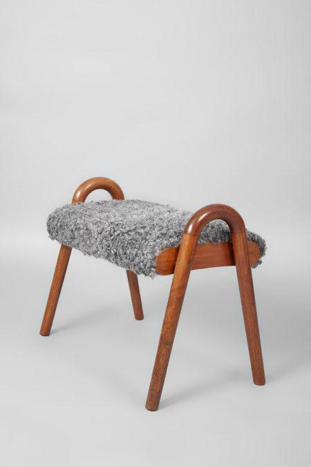 Vilhelm Lauritzen teak stool